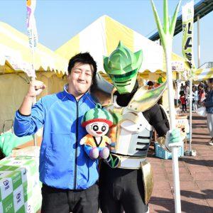 11月5日、広報担当と下妻市で開かられた「茨城をたべよう収穫祭」に行ってきたよ~